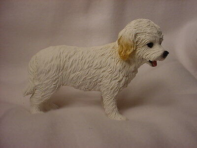 COCKAPOO Dog Figurine HAND PAINTED COLLECTIBLE Resin Statue WHITE Puppy NEW k9
