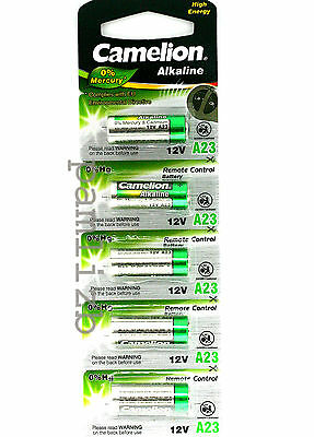 A23 MN21 12v  GP23A 8LR23 23A Camelion Plus  Alkaline High Energy  batteries  x5