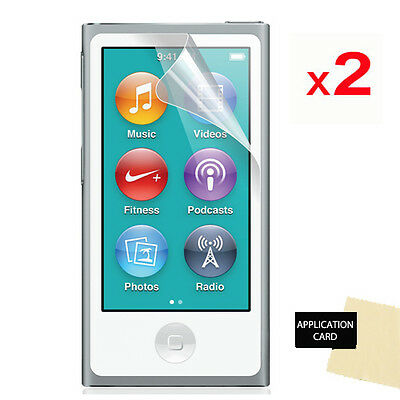 2 Pack of LCD Screen Protector Guards for Apple iPod Nano 8, Nano 8th Gen