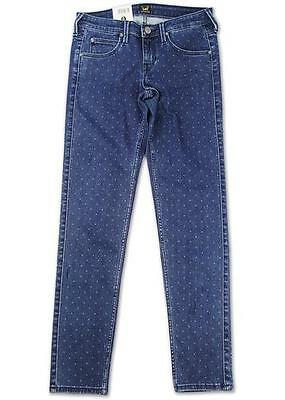 Sale! Lee Womens 'lynn' Stretch Denim Polkadot Skinny Jeans L357Swwi (Blue) H169