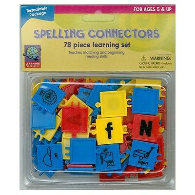 Spelling Connectors Letter Picture Association Fine Motor & Reading Skills