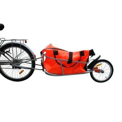 B#Single Wheel Bicycle Bike Trailer Storage Bag Shock Absorption One Wheel