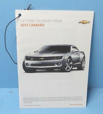 12 2012 chevrolet camaro owners manual supplement 13 45 picclick rh picclick com 1977 camaro owners manual 2020 Chevy Camaro