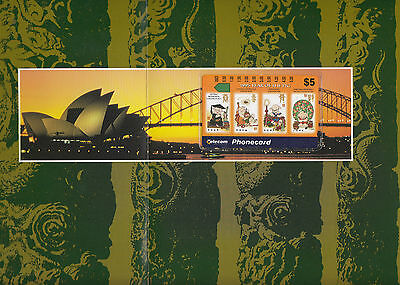 Phonecard Australia China year of pig $5 mint in original pack & Harbour Bridge