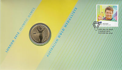 Coin Australia $1 proof Olympic Games London sailing PNC 2012 post office cover