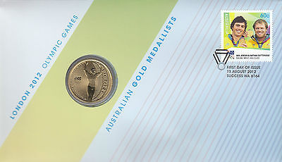 Coin Australia proof $1 Olympic Games London sailing PNC 2012 post office cover