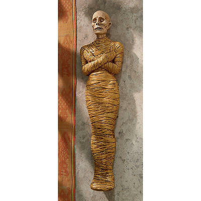 Ancient Egyptian Mummy Wrapped Corpse Wall Sculpture