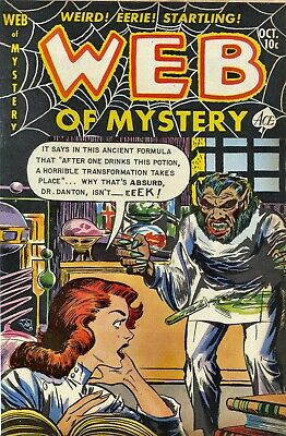 Web of Mystery 14 Comic Book Cover Art Giclee Reproduction on Canvas