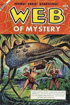 Web of Mystery 21 Comic Book Cover Art Giclee Reproduction on Canvas