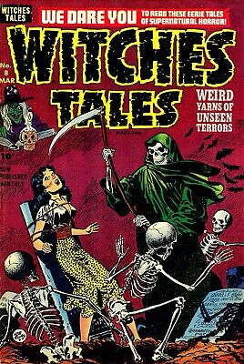 Witches Tales 08 Comic Book Cover Art Giclee Reproduction on Canvas