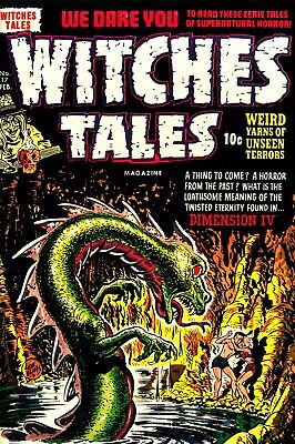 Witches Tales 17 Comic Book Cover Art Giclee Reproduction on Canvas
