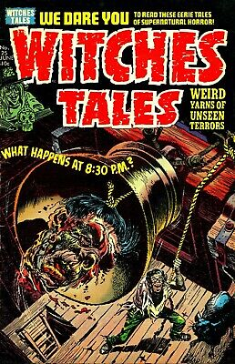 Witches Tales 25 Comic Book Cover Art Giclee Reproduction on Canvas
