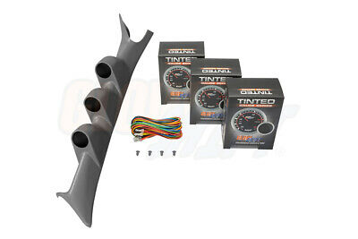 GlowShift Tinted Gauge Package + Gray Pod for 99-07 Ford Super Duty F-250 F-350