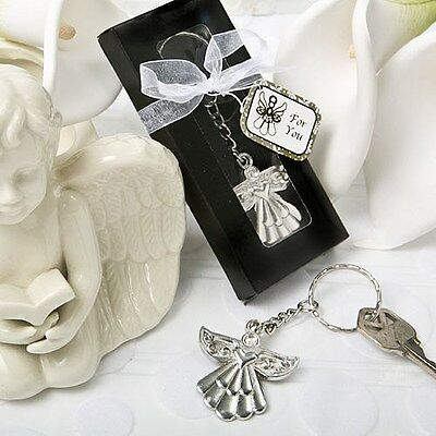 75 Guardian Angel Key Ring Baby Shower Favors