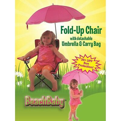Redmon Kids Camp Chair with Carry Umbrella and matching tote bag, Pink 9106PK-PK