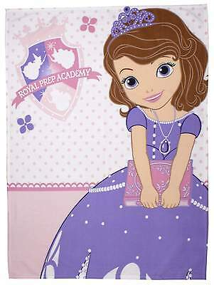 Disney Sofia The First Academy Fleece Blanket Kids Character Snuggle Wrap Throw