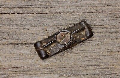"1 3/4"" Jelly Cupboard cabinet door turn button latch thin bow tie old vintage"
