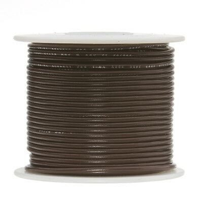 "18 AWG Gauge Stranded Hook Up Wire Brown 100 ft 0.0403"" UL1007 300 Volts"