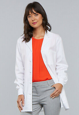 """White Cherokee Professional 32"""" Lab Coat 1362 WHT, 1362A WHTD Antimicrobial"""