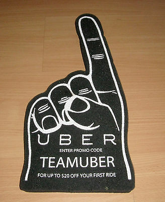 "Uber Advertisement Merchandise Taxi Service 16 1/2"" Foam Finger Promo Code"