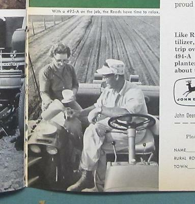 Original 1964 John Deere Photo Endorsed Ad by Russell Reed of Conesville Iowa