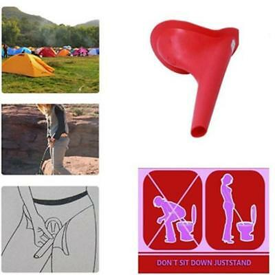 Women Urination Device Cup Stand Up Pee Anywhere Port Travel Potty Urinal Red B
