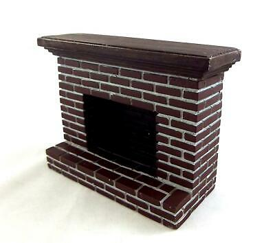 Dolls House Miniature 1:12 Scale Furniture Resin Red Brick Fireplace