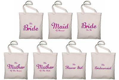 Wedding Favour Large Tote Bags - Printed Gift Present Keepsake Hen Do Party