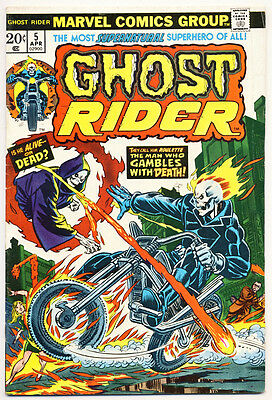 GHOST RIDER #5 VG, Marvel Comics 1974