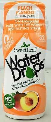 SweetLeaf Stevia Water Drops Peach Mango 2.1 oz Drink Mix