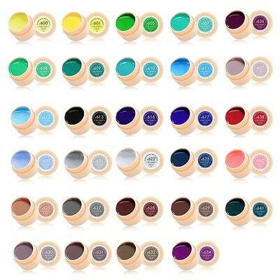 CANNI Solid Pure UV Soak Off Gel Paint Set Nail Art French Tip Colour #531-560