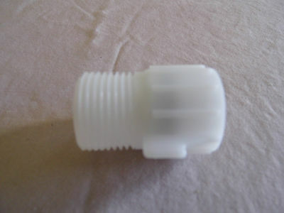 7/8 Inch Male Pipe Adapter to 1/2 Female, Has Built in Screen for Straining.