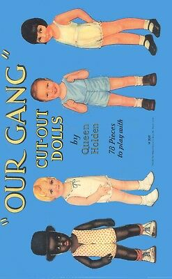 Vintge 1937 Our New Baby Paper Dolls ~Merril~ Adorable Laser Repro~Org Sze Uncut
