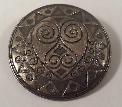 Vintage Sterling Silver Abstract Symmetry Pin Brooch