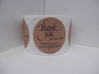 Thank you for the order Your business is much appreciated Label kraft 250/rl