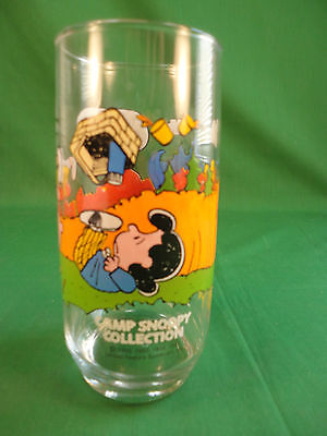 McDonalds Peanuts Snoopy Charlie Brown Drinking Glass in Perfect Condition *3