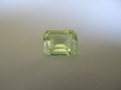 8.32ct Loose Emerald Cut Light Green Quartz Gemstone 14 x 12mm