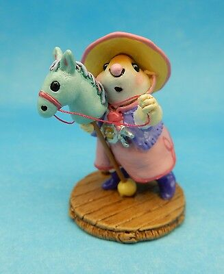 CLIPPITY CLOP by Wee Forest Folk, WFF# M-290, PINK Retired Event Piece Cowgirl