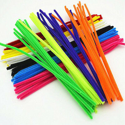 Universal 100Pcs Chenille Stems Pipe Cleaners DIY Materials Kids Education Toys