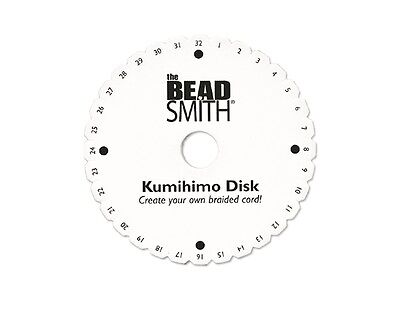 """Kumihimo Braiding Disc Round 4.25"""" with English Instructions - Jewellery Making"""