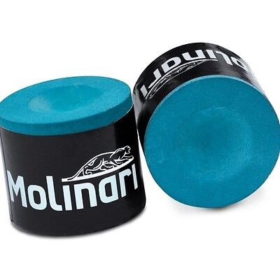 Molinari CHLK - Blue Cylindrical Pool or Snooker Cue Chalk - 6 Pack