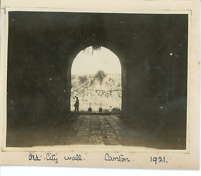 China, Canton, Old city wall  Vintage silver print.  Tirage argentique d'