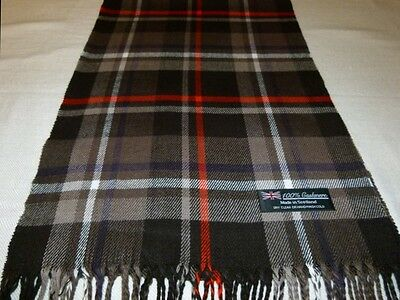 100% Cashmere Scarf Black White Red Blue Unisex Scotland Wool Check Plaid K34