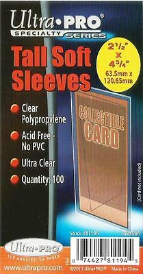 Ultra-Pro Pack of 100 Tall Soft Card Sleeves for Wide Screen Trading Cards