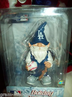 """Gnome Ornament With Los Angeles  Dodgers Holding A Baseball About 4""""  High"""