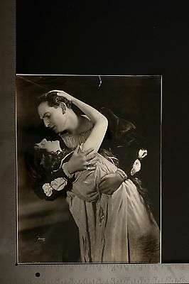 """Oversized Antique 1910s Silver Photo """"THE FIREBRAND"""" Theater Stage Play 2"""