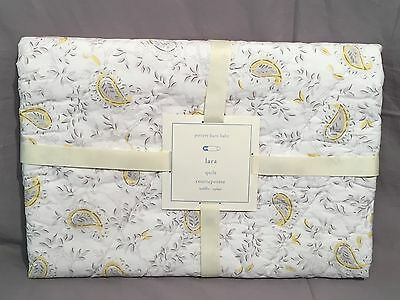Pottery Barn Kids Yellow/Gray Lara Crib Toddler Nursery Quilt