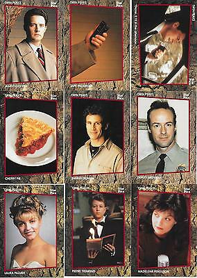 1 LOT OF 60 TWIN PEAKS THE TV SERIES TRADING CARDS MADE IN 1991 BY STAR PICS