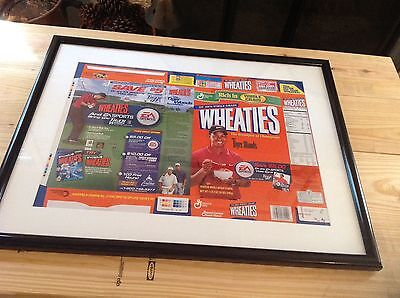 1999 Wheaties Tiger Woods Flat Box (Orange Cover)  Never Folded