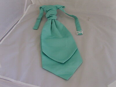 MATT Mint Green MENS Polyester Scrunchie Ruche Tie Cravat>More U Buy>More U Save
